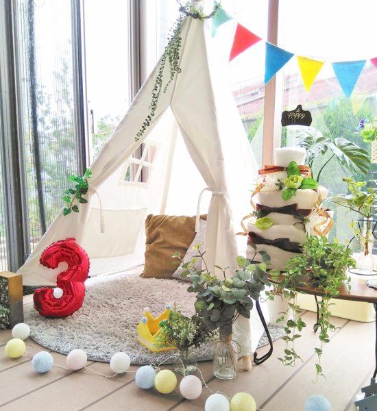 おうちキャンプのお部屋キャンプテント