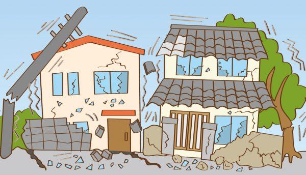 地震 家の倒壊
