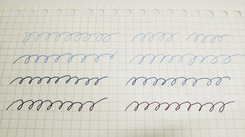 万年筆インクの色
